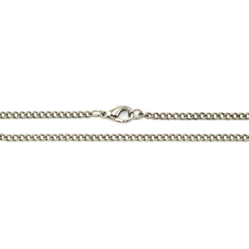 Silver-tone Finish Snake Chain Necklace - 20 Inches