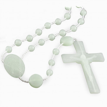 Divine Mercy Plastic Rosary Glow In The Dark Beads