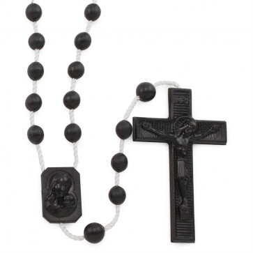 Black Plastic Rosaries