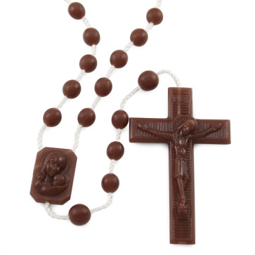 Brown Plastic Rosaries