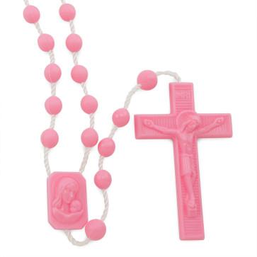 Pink Plastic Rosaries