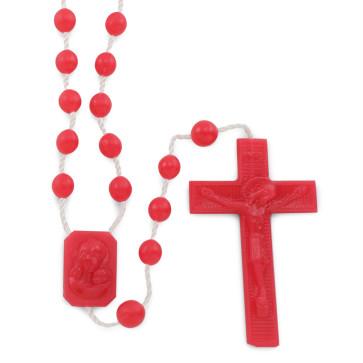 Red Plastic Rosaries