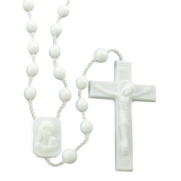 White Plastic Rosaries