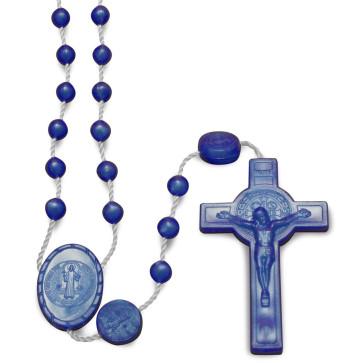 Blue Plastic Beads Rosary