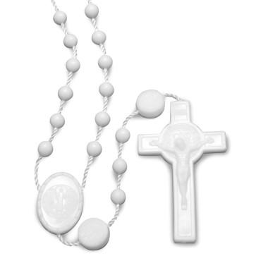 White Plastic Beads Rosary