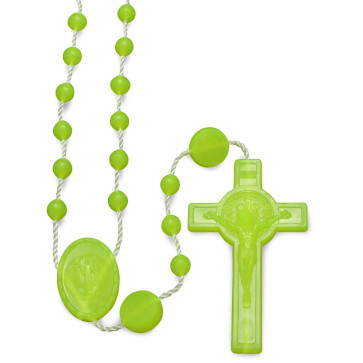 Yellow Plastic Beads Rosary
