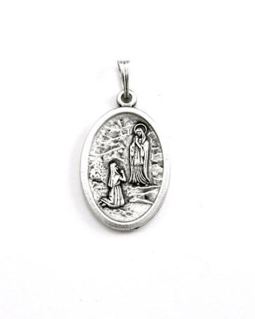 St. Bernadette - Our Lady of Lourdes Medal - Front