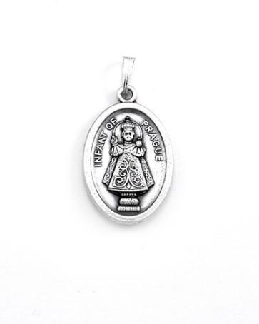 Infant of Prague - Sacred Heart Medal - Front