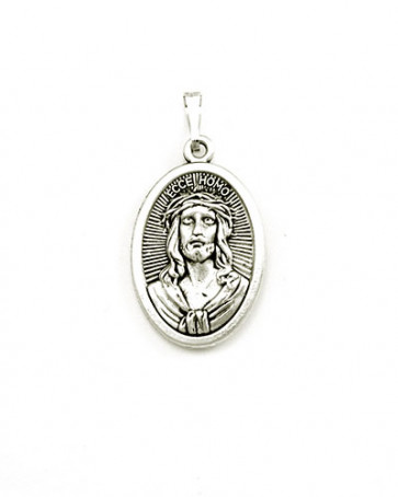 Our Lady of Sorrows - Jesus Crown of Thorns Medal - Front