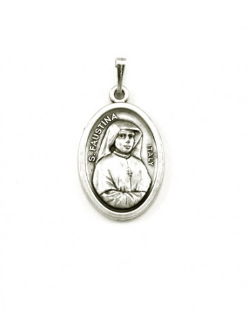 St. Faustina Medal - Back