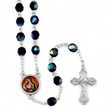 Black Crystal Beads Rosary
