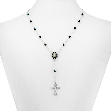 Crystal Beads Rosary Necklace