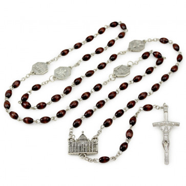 Papal Bascillicas Rosary-Set