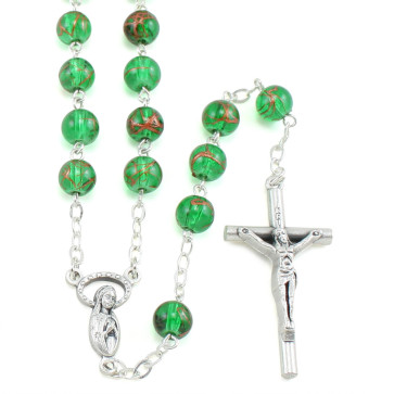 Green Glass Beads Rosaries