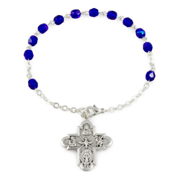 Crystal Catholic Rosary Bracelet