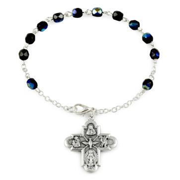 Four Way Cross Rosary Bracelets
