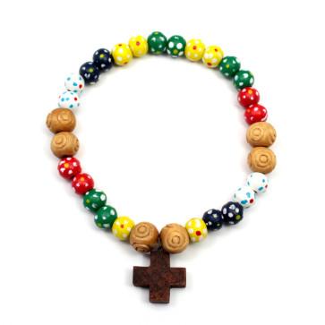 Missionary Wooden Beads Bracelet