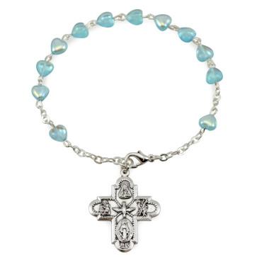 Heart Beads Rosary Bracelet