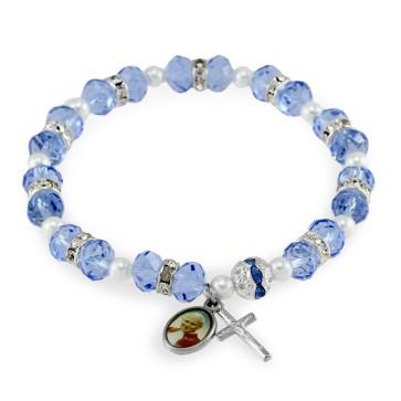Rosary Bracelet Crystal Beads