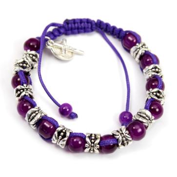 Amethyst Beads Rosary Bracelet