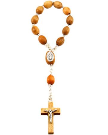 Olive Wood Decade Catholic Rosary