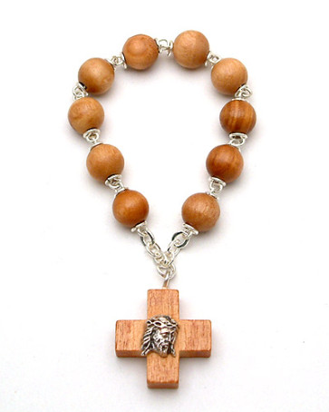 Olive Wood Decade Catholic Rosary
