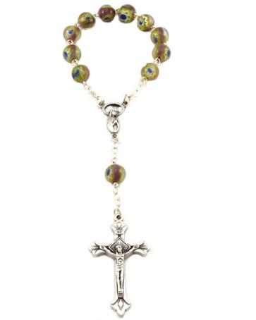 One Decade Catholic Rosary, Murano Beads