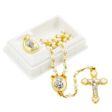 First Communion Catholic Rosary Set - Boys