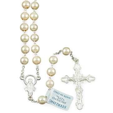 Rosary with Pearl Beads