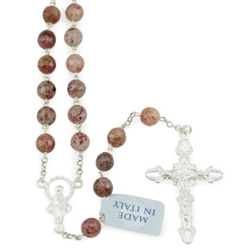 Rosary with Rhodonite Beads