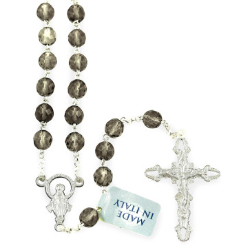 Rosary with Quartz Beads