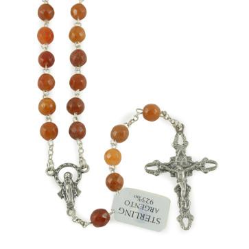 Corniola Beads Rosary