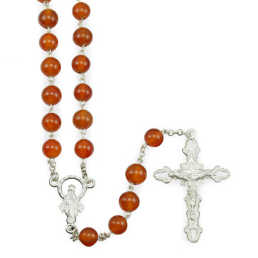 Rosary with Carnelian Beads