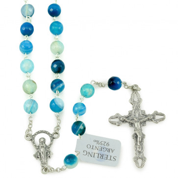 Light Blue Beads Rosary