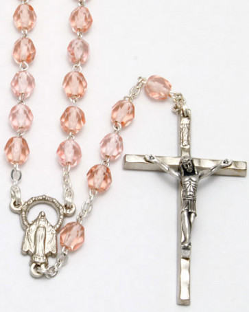 Pink Crystal Beads Rosary