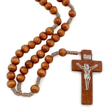 Rosary with Wooden Beads