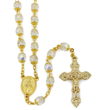 Lady of MIracles Gold Rosary