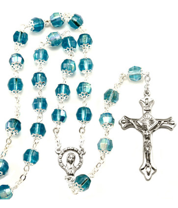 Catholic Borealis Capped Beads Rosary