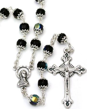 Capped Beads Catholic Rosary