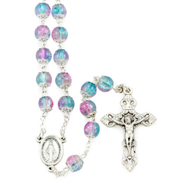 Rosary with Blue Violet Beads