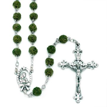 Rosary Green Lava Rock Mother Child Women Men Teens