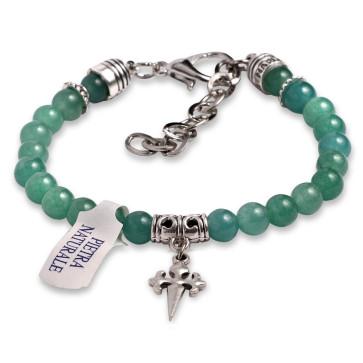 Rosary Bracelet Green Agate Stone Beads St James Santiago Cross