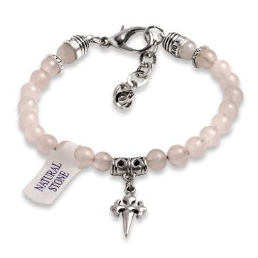 Rosary Bracelet Pink Rose Quartz Beads St James Santiago Cross