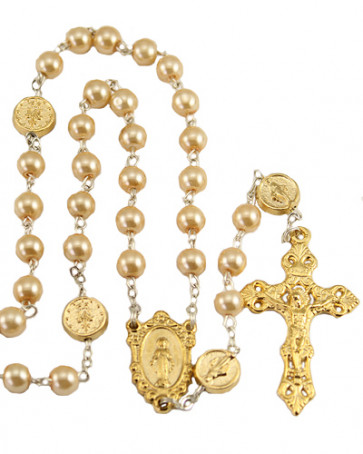Miraculous Pearl Catholic Rosary