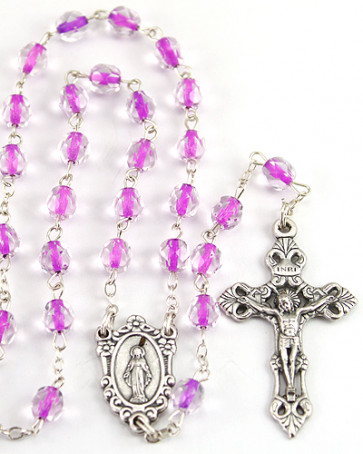 Soul Glass Beads Catholic Rosary