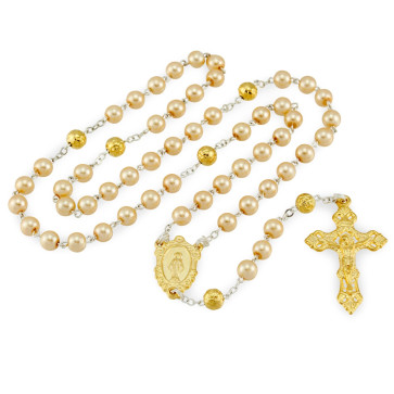 Miraculous Pearl Beads Catholic Rosary