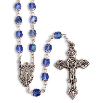 Miraculous Capped Beads Catholic Rosary