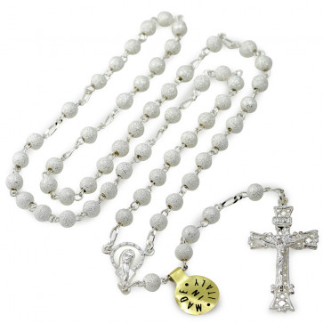Diamond Dust Beads Catholic Rosary