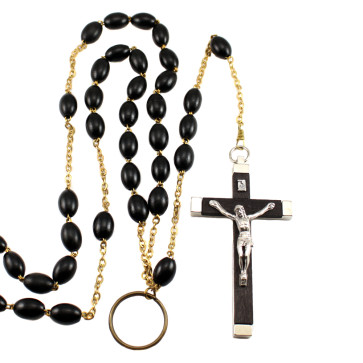 Black Nun's Beads Catholic Rosary