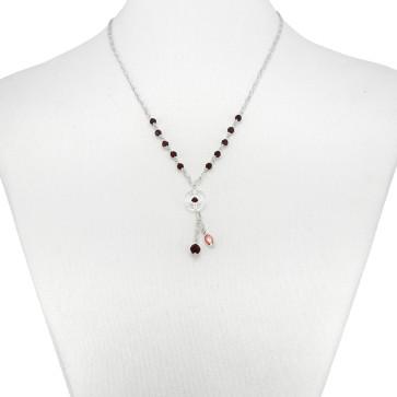 Rosary Necklace Swarovski Crystal Beads